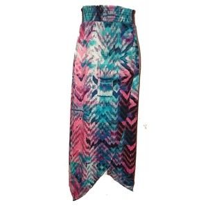 Dresses & Skirts - Boho ColorfulFestival Comfy Faux Wrap Maxi Skirt M